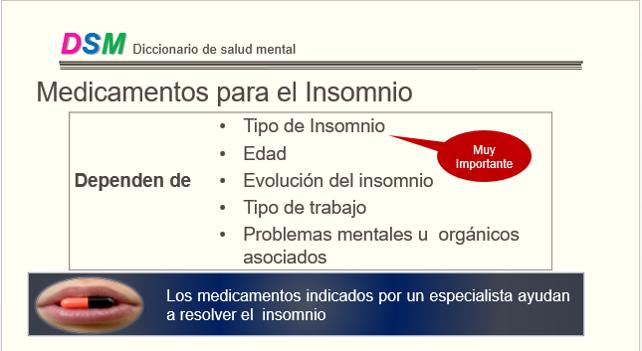 Medicamentos para el insomnio