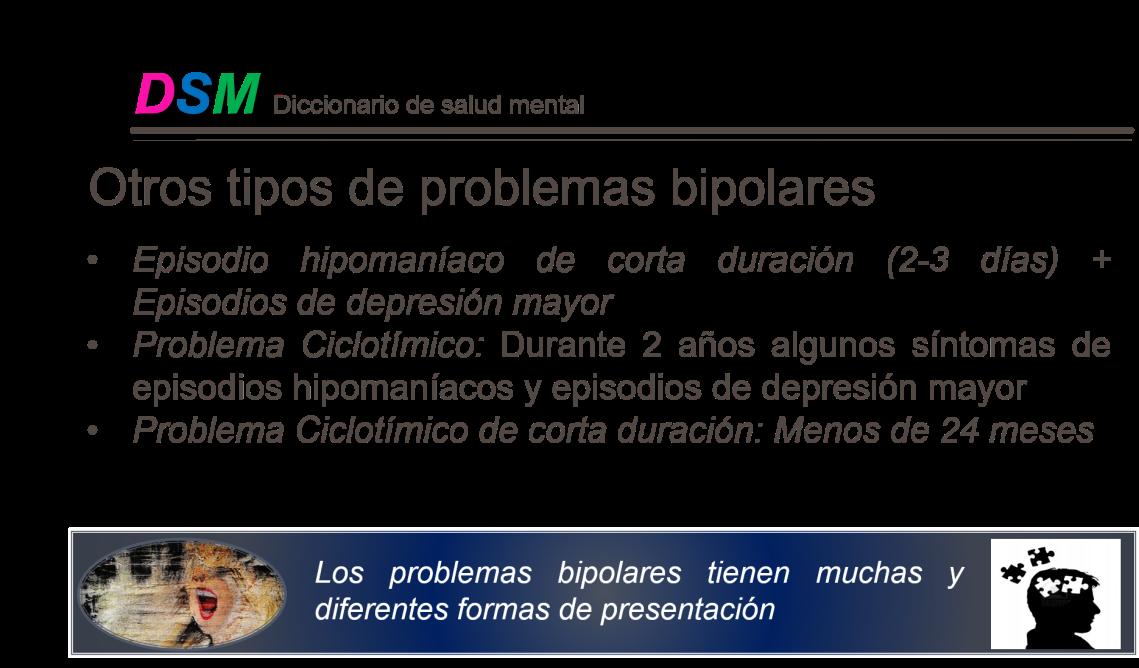 Bipolar lamina de otros tipos de problemas
