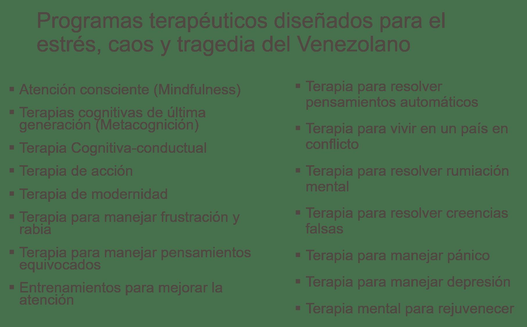 Terapias para el Venezolano